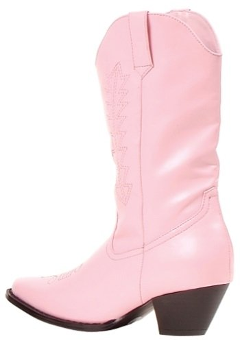 Girls Pink Cowgirl Boots Large