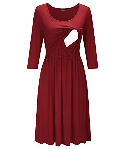 Cheap Fancy Dress Shops (OUGES Womens Sleeveless Summer Floral Maternity Dresses Nursing Breastfeeding)