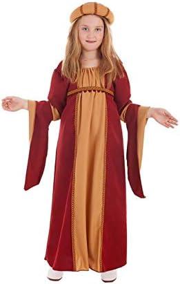Creaciones Llopis Disfraz de Cortesana Medieval para niña: Amazon ...