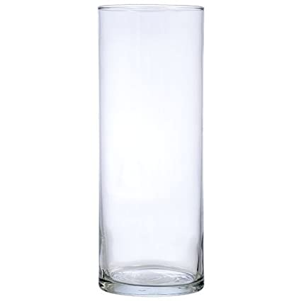 Amazoncom 7 Inch Clear Glass Cylinder Floral Straight Vases Set