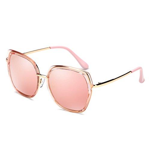 Color Film Color Sol 100 Pink Fashion ZHHL de Sunglasses 400 Pink Vacaciones Star Gafas Polarizer Mujeres UV Protección Conducción Viajar 5Txdqxw