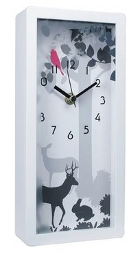 """JustNile Decorative Rectangle Table Clock - 5"""" x 10"""" Magical Forest"""