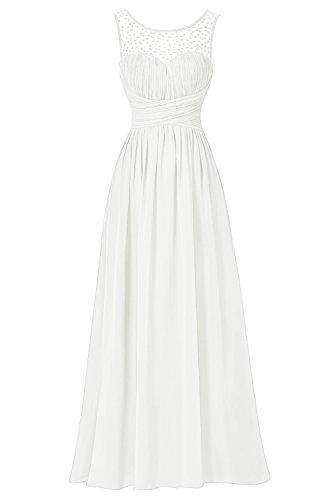 Bbonlinedress Vestido De Ceremonia Elegante Largo Sin Mangas Marfil