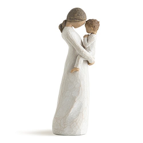 Willow Tree hand-painted sculpted figure, (Mother Son Statue)