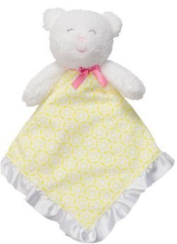 Yellow Teddy Bear Snuggle Buddy Rattle Security Blanket by Carter's