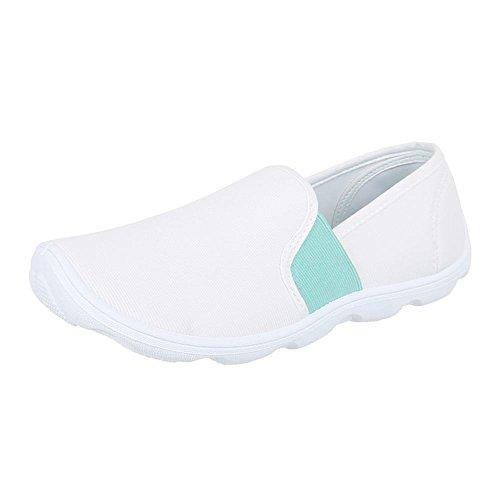 de Ital BLANCO Zapatos Blanco Design mujer wAzf1z