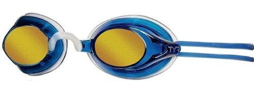 (TYR Torrent Racing Metallized Goggle (Metallic Ocean))