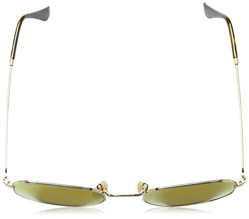 Ray-Ban RB3548N 001/93 Non Pol Sunglasses - Gold Frame/ Gold Flash Lenses 51mm
