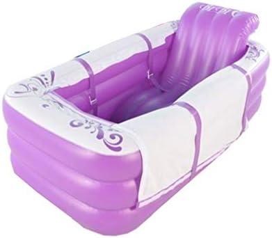 バスタブ/肥厚インフレータブルバスタブ/アダルトバス/ホーム折りたたみバスタブ/肥厚耐摩耗性の子供のプールを温めます,紫色,165*45*85cm