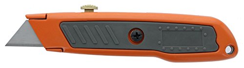 HDX 377 784 Retractable Utility Knife with Rubber Handle and 3 Position Locking Blade, (Locking Positions)