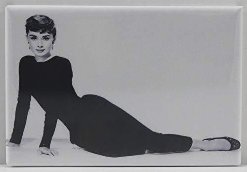 Audrey Hepburn B & W Photo Refrigerator Magnet.