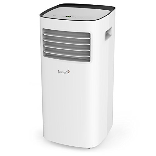 Ivation 10,000 BTU Portable Air Conditioner – Compact Single-Hose AC Unit & Dehumidifier w/Remote Control, Digital LED Display & Multi-Mode Function - 400 Sq/Ft Coverage