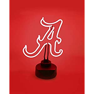 ALABAMA CRIMSON TIDE NEON SIGN LIGHT DISPLAY MAN CAVE OFFICE NCAA LICENSED NEW