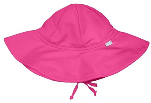 i play. Baby Girls' Solid Brim Sun Hat (Baby) - Hot Pink - Infant(6-18 Mo)