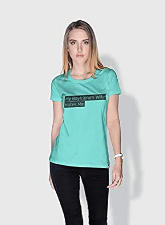 Creo My Boyfriends Wife Funny T-Shirts For Women - L, Green