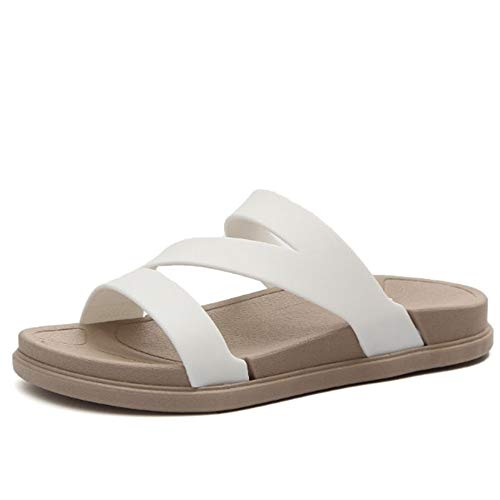 Antidérapantes Couleur Sandales 40 Noir Women Blanc Flops Taille EU Wangcui Summer Flip xOwaaXY