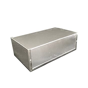 "BUD Industries CU-3011-A Aluminum Electronics Minibox, 12"" Length x 7"" Width x 4"" Height, Natural Finish"