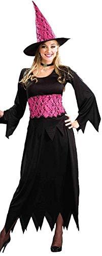 (Forum Novelties Women's Plus-Size Lacy Pink Witch Plus Size Costume, Black/Pink,)