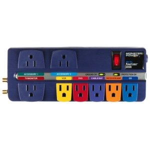 (Monster Cable PowerCenter MP AV 800 8-Outlets Surge Protection Outlet)