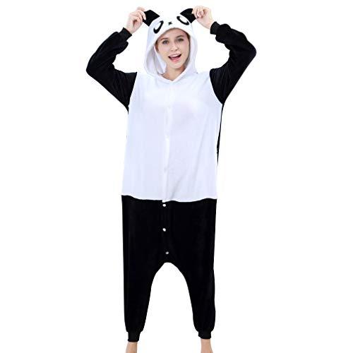 IDGIRL Adult Panda Cosplay Pajamas for Women with Opening Animal Costume Black, M, One Piece ()