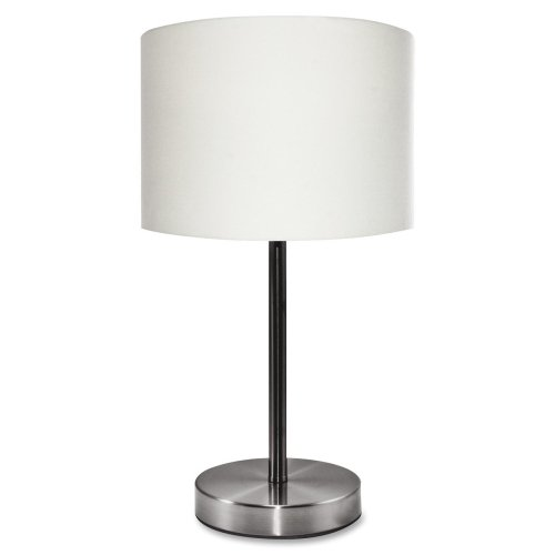 Slimline Contemporary Table Lamp (LEDU Slim Line Table Lamp with White Linen Shade, 12.6-Inch High (L9140))
