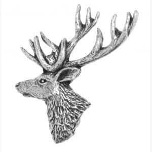 Distintivo de Peltre de Cabeza de Ciervo
