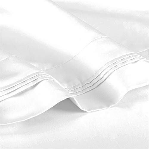 Luxurious Comfort and Softness 100% Egyptian Cotton 1200 Thread Count & Deep Pocket Queen Size Sheet Set Color White