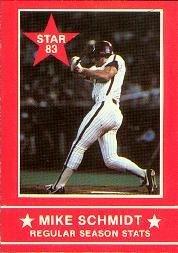 1983 Star Schmidt #2 Mike Schmidt/Regular Season Stats Near (Mike Schmidt Stats)