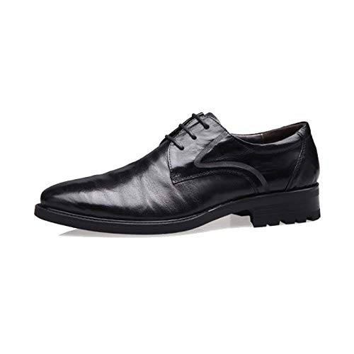 Eu Talla Hombre Zapatos Niumt 5 Color Cuero Marrón De Cordones Para 39 q8xPxBXw
