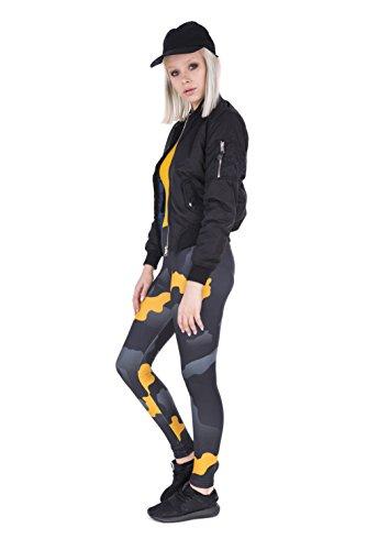 FRINGOO - Medias deportivas - para mujer Orange Grey Camo
