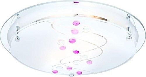 Lámpara de techo (2 focos plafón Dormitorio Lámpara Cristal Decoración Piedras multicolor (Luz Techo, Lámpara de techo, lámpara de salón, Piso, espejo ...
