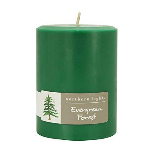 Northern Lights Candles Fragrance Palette 3x4 Pillar Evergreen Forest