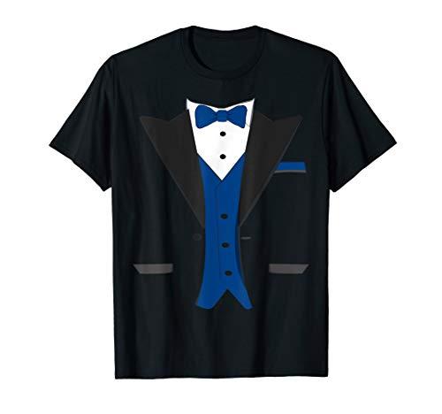 Tuxedo Halloween Wedding Groom Costume Blue Funny T-shirt