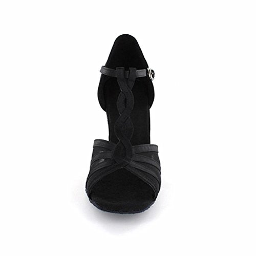 LOVELY BEAUTY Ladys Ballroom Dance Shoes for Chacha Latin Salsa Rumba Practice QN35D7