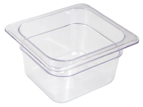 Crestware Commercial Grade, FP66, Polycarbonate Food Pan Sixth Size 6'', Set of 6