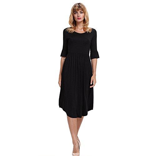 1 lunghi elegante abiti MEI Prom 2 Donna Palla amp;S Black Vintage manicotto abito 6nnptZqS