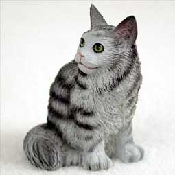 (Conversation Concepts Miniature Silver Tabby Maine Coon Cat Tiny One Figurine (Set of 6))