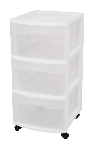 Sterilite 28308002 Drawer Drawers Casters