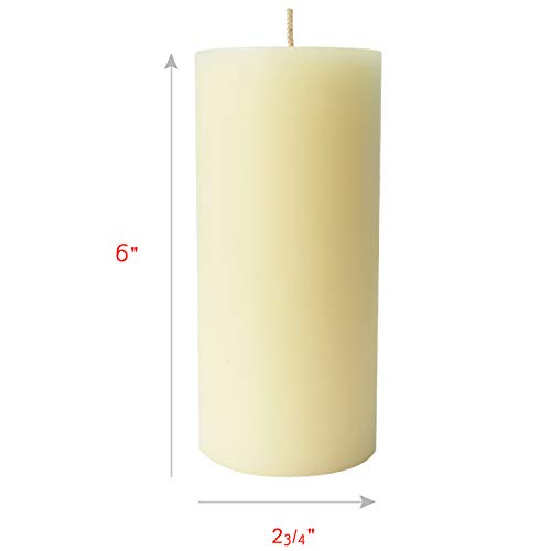 Simply Soson Ivory Pillar Candles 3x6 | Scentless & Dripless Pillar Candles (6 Pack) by Simply Soson (Image #1)