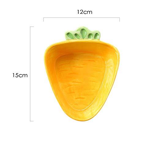 CZZJH Plato Niños Cerámica Vajilla Conejito Tazón Creativo Zanahoria Ensalada De Dibujos Animados Fruta Bebé Tazón De…