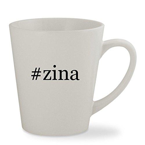 #zina - 12oz Hashtag White Sturdy Ceramic Latte Cup Mug ()