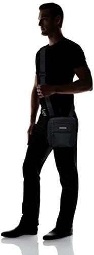 Tommy Hilfiger Easy Nylon Slim Reporter - Bolso bandolera Hombre Negro - Schwarz (Black 002 002)
