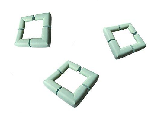 Viskey Pack of 12 Baby Furniture Corner Safety Bumper Corner Protector Guard Cushion,Green