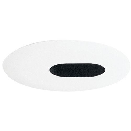 Juno Lighting Group 4345-WH Aculux 4IN Adjustable Oval Slot Recessed Trim, Black Alzak Reflector with White Trim Ring - Slot Aperture Recessed Light Trim