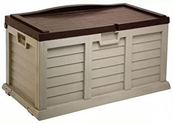 270l Garden Cushion Storage Box Chest Sit On Lid