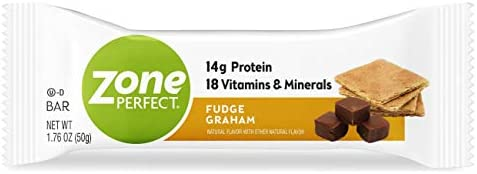 Zoneperfect Classic Protein Bars, Fudge Graham, High Protein, With Vitamins Minerals 1.76 Ounce 30 Count