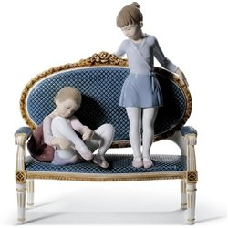 Lladro Porcelain Figurine Ready for Practice Limited Edition