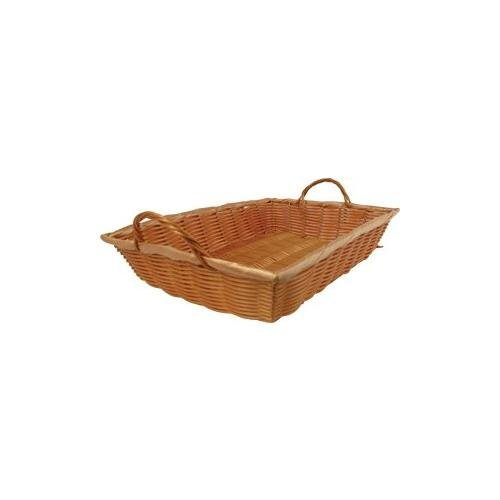 Winco Polypropylene Oblong Natural Woven Basket, 16 x 11 x 3 inch -- 1 each. PWBN-16B