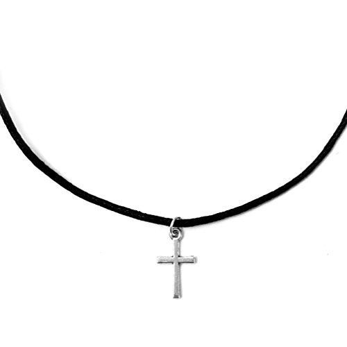 Single Strand Cross Charm Choker Necklace