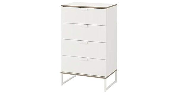 IKEA TRYSIL - Cómoda con 4 cajones, Color Blanco, Gris Claro, 60 x 99 cm: Amazon.es: Hogar